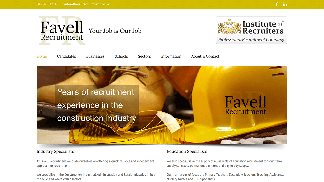 Favell Recruitment Website