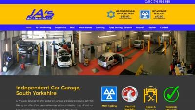 WordPress Website, Ja's Auto Services, Doncaster