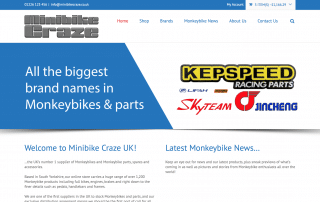 Minibike Craze Ecommerce Website