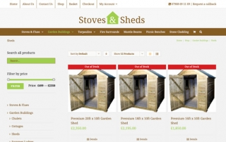Stoves and Sheds Website