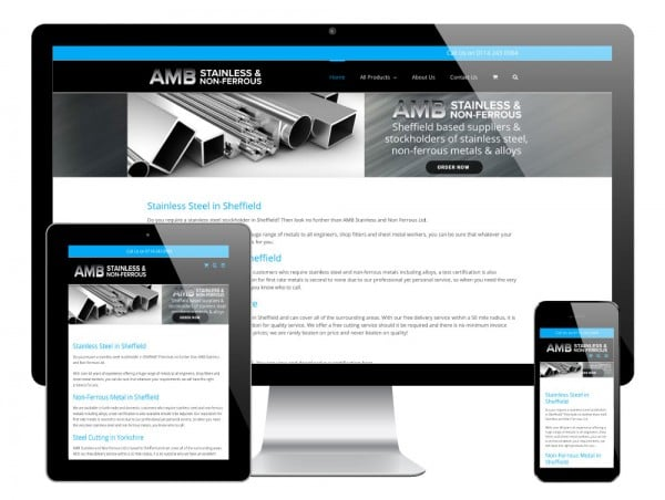 AMB Steels WordPress Website