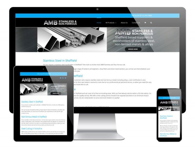 AMB Steels WordPress Website