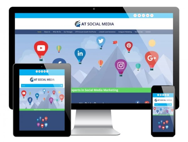 AT Social Media WordPress Website