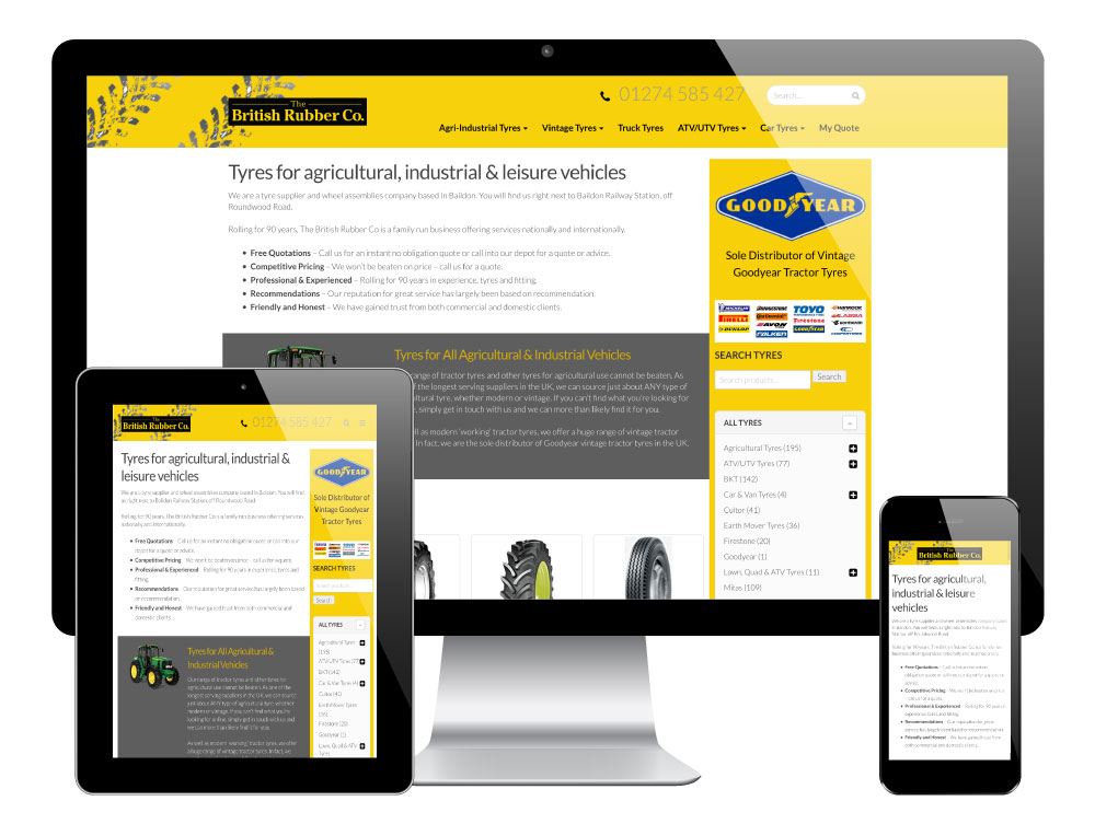 British Rubber Co WordPress Website