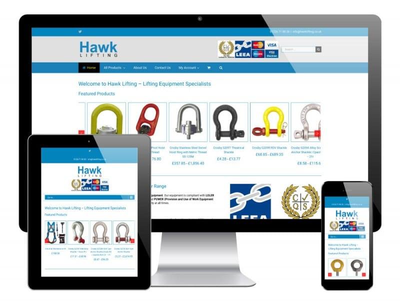 Hawk Lifting WordPress Website