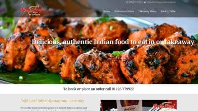 Gold Leaf Restaurant Website, Barnsley