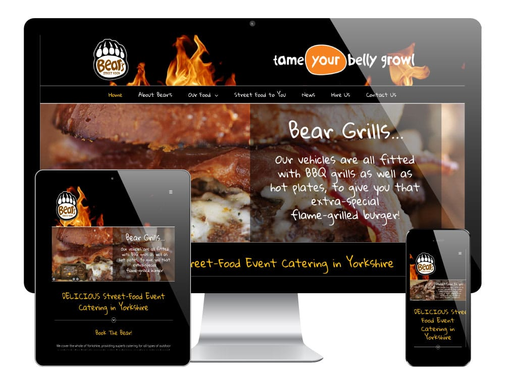 Bears Street Food WordPress Website