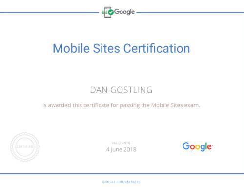 Go Web = Google Certified!