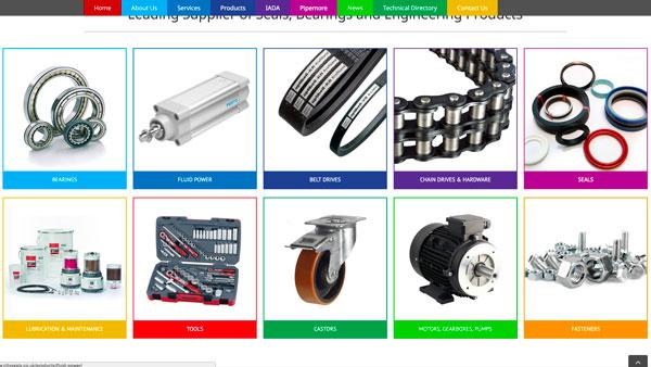 City Seals & Bearings Website, Sheffield-Based