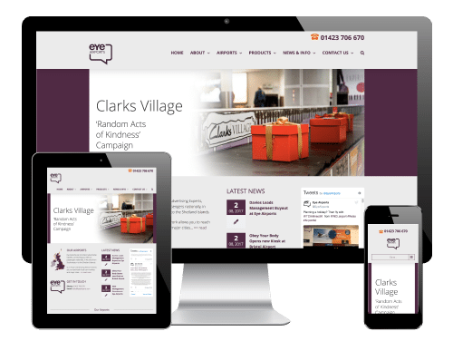 Eye Airports, Harrogate - Responsive WordPress Website