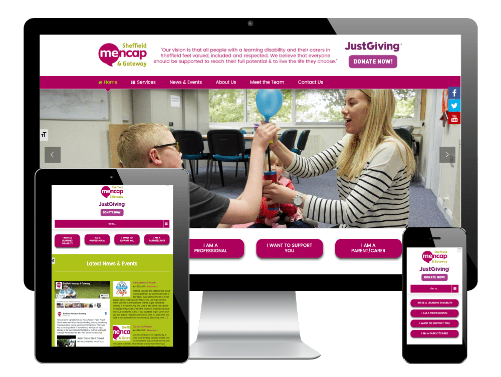 Mencap Sheffield - Responsive WordPress Website