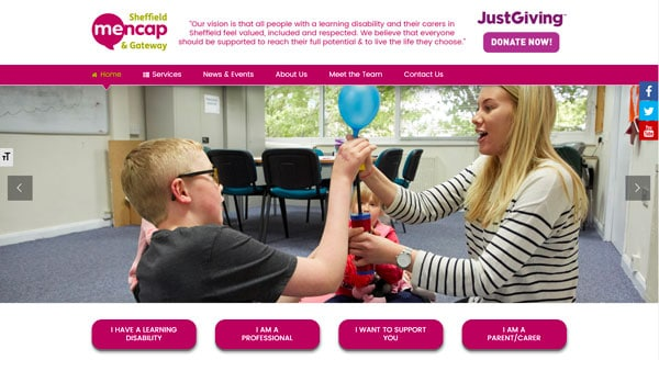 Mencap Sheffield Web Development Project