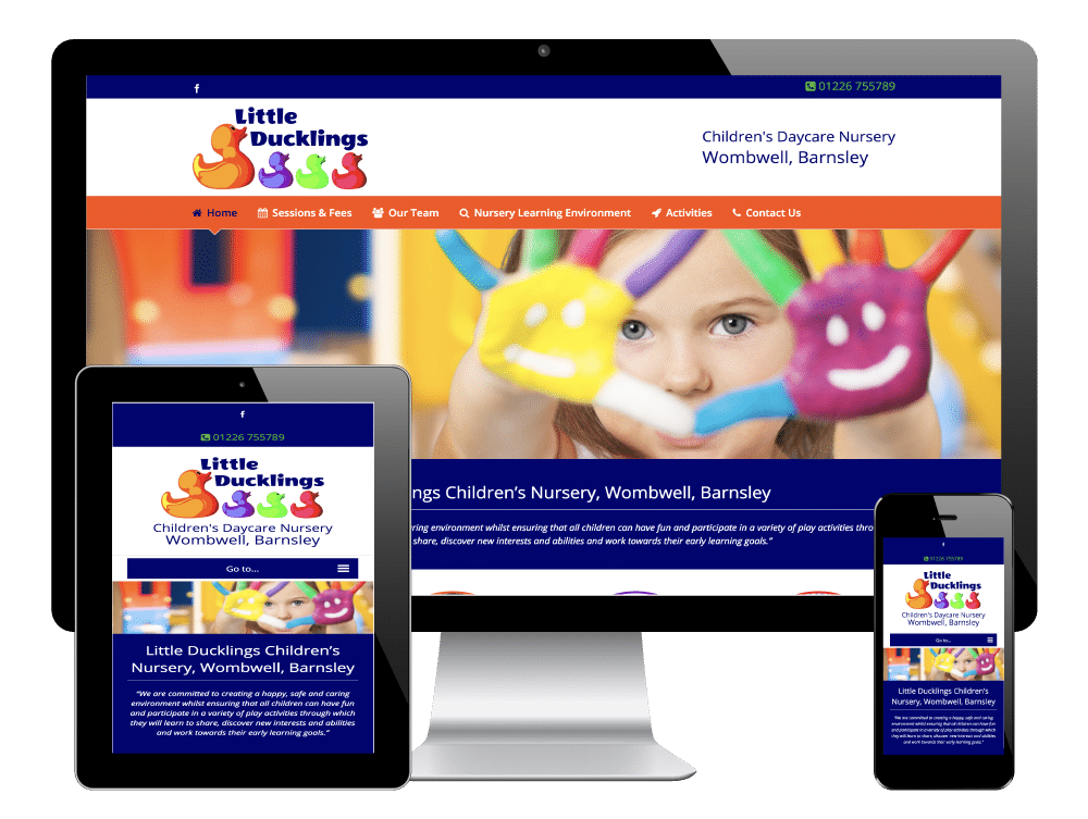 WordPress Website for Little Ducklings Children's Nursery, Barnsley