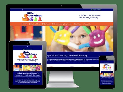 WordPress Website for Little Ducklings Children's Nursery, Barnsley