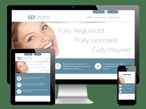 Cosmetic Prescriptions - WordPress Website by Go Web Design & Development