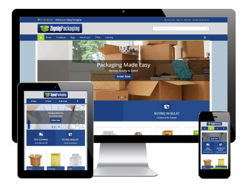 Magento 2 Website for Zignig Packaging, Barnsley