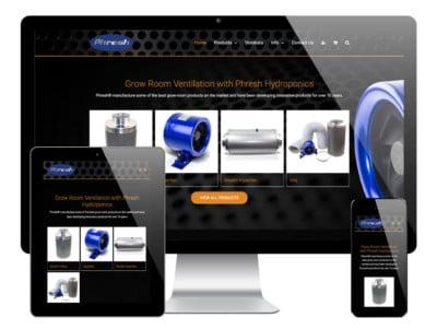 Phresh Hydroponics WordPress Website
