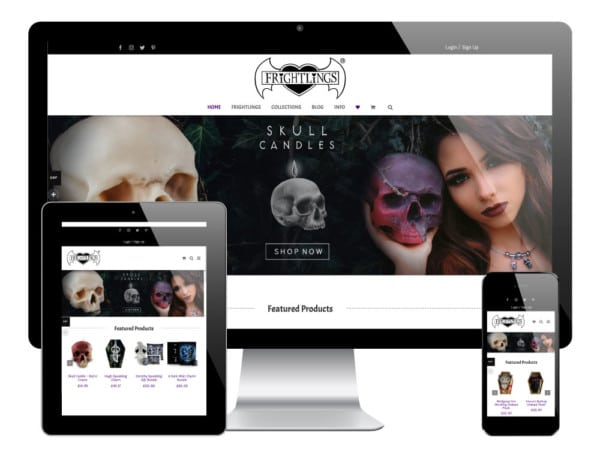 Frightlings, Barnsley - WordPress Ecommerce Website