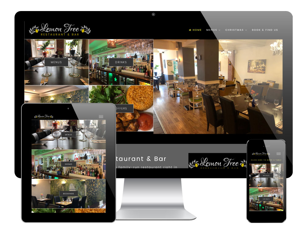 WordPress Restaurant Website for The Lemon Tree, Barnsley