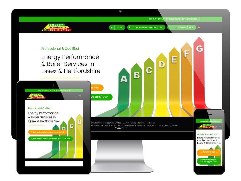 Energy Performance Certificates, Essex. WordPress Website by Go Web Design & Development