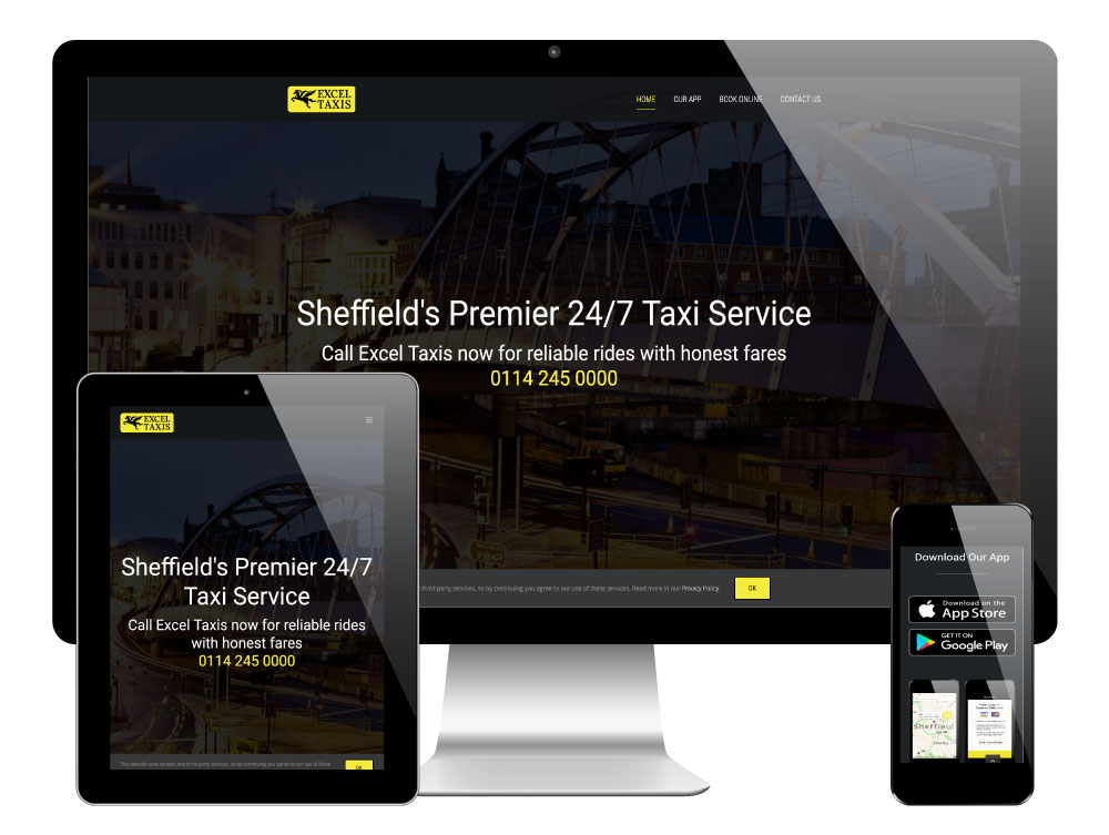 Excel Taxis Sheffield, WordPress Website