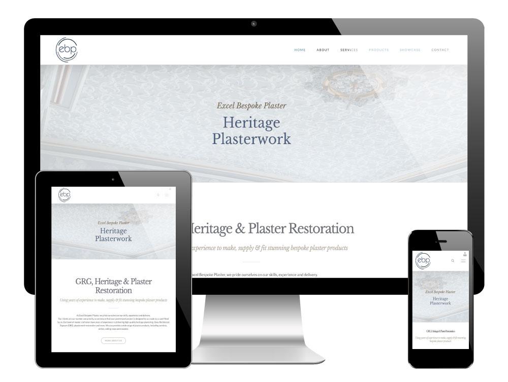 Excel Bespoke Plaster Sheffield - WordPress Website