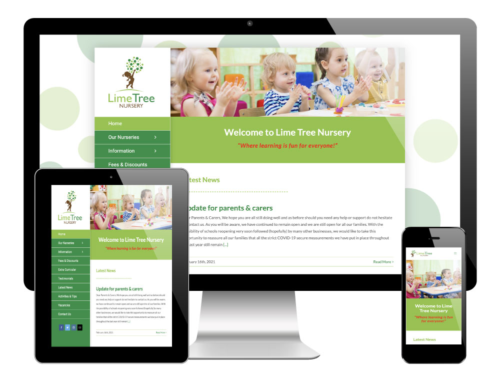 Lime Tree Nursery Worksop - WordPress Website