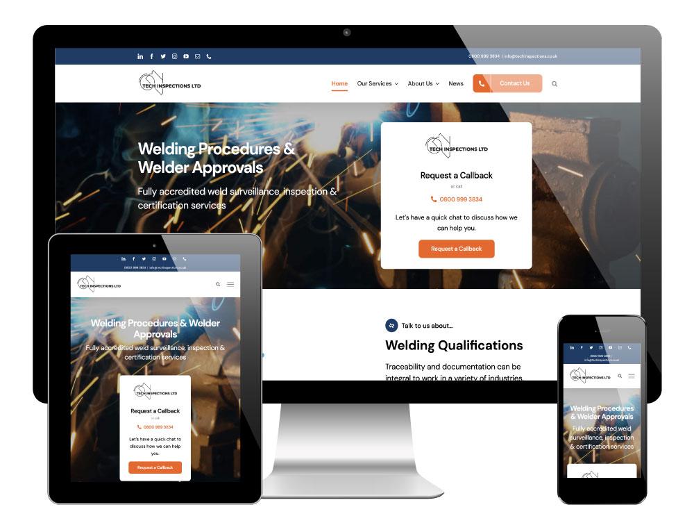 Tech Inspections Lincolnshire - WordPress Website
