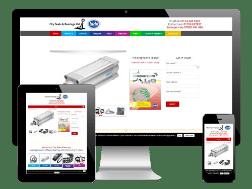 City Seals & Bearings, Sheffield - Responsive WordPress Website